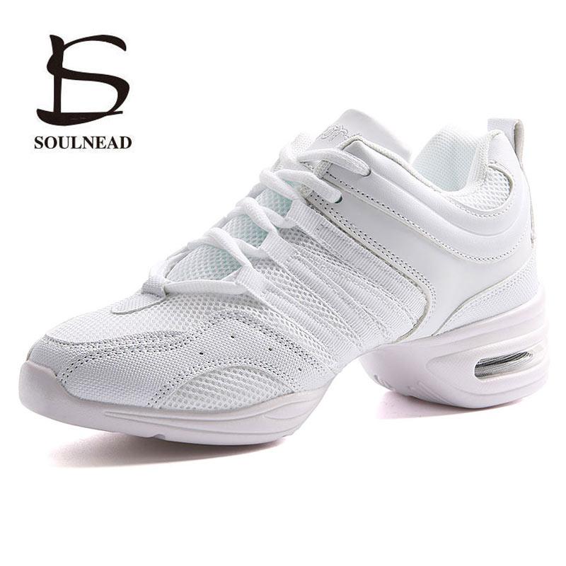 Women's Dancing Shoes Sneakers Woman Jazz Dance Mesh Flat Outdoor Sports Ladies Girl's Modern Casual Shoes Female Size 28 42