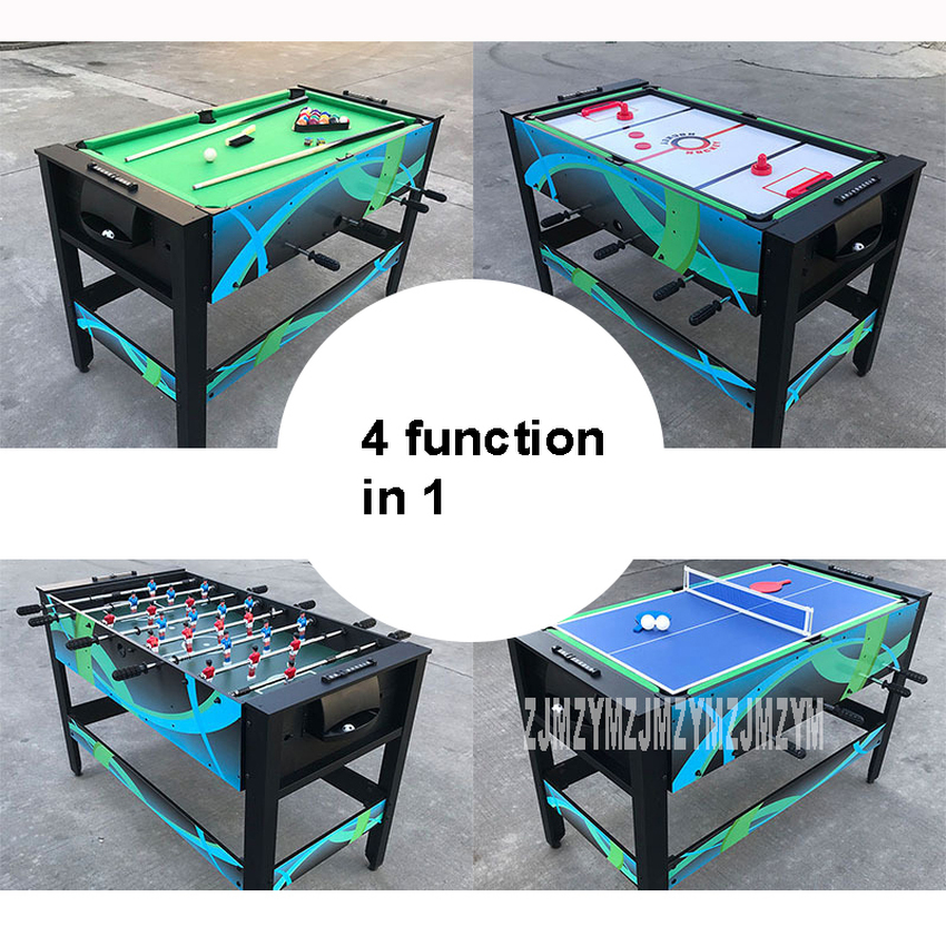 4 Function In 1 Table Set Billiard/Ice Hockey/Football/Table Tennis Table Indoor Sport Game Leisure Multifunctional Table