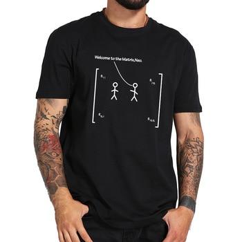 매트릭스에 오신 것을 환영합니다 neo tops matrices 수학 linear algebra number array tees 100% cotton nerd tshirt eu 크기