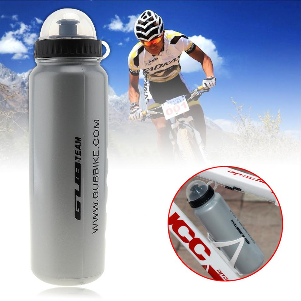 GUB 1000ml Lightweight Plastic Portable Bicycles Water Bottle With Dust Cover For Cycling / Camping