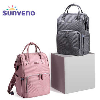 Sunveno Fashion Diaper Bag Backpack Quilted Large Mum Maternity Nursing Bag Travel Backpack Stroller Baby Bag Nappy Baby Care - DISCOUNT ITEM  35% OFF All Category