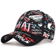 New WHAT Graffiti Baseball Cap Hip Hop Tide Hat Summer Travel Shade Caps Men Women Outdoor Sports Casual Hats Snapback Hats Gorr