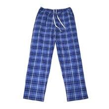 Дешевая хлопковая клетчатая Весенняя Летняя мужская нижняя часть пижамы штаны для сна штаны пижамы для спящего человека Пижама домашняя одежда