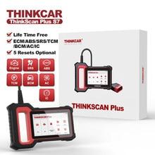 THINKCAR Thinkscan Plus S7 Lifetime Free Optional 5 Resets Car Diagnostic Tool ECM/TCM/ABS/SRS/BCM/IC System OBD2 Auto Scanner