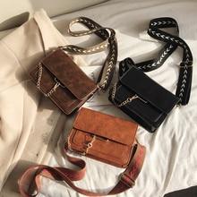 Barato nuevo Vintage mujeres casuales de moda bandolera de cuero Retro de la mujer, bandolera cruzada elegante sobre bolso de embrague