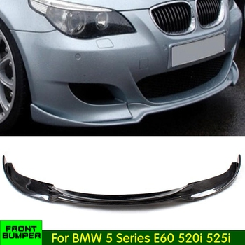 E60 Carbon Fiber / FRP Car front bumper Lip for BMW E60 520i 525i 530i M5 2005-2009 front bumper body kit image
