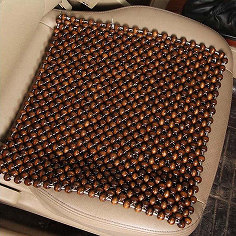 45x45 см чехлы для сидений автомобиля бусины из натурального дерева Подушка для сидения автомобиля массажный дышащий коврик для сидения