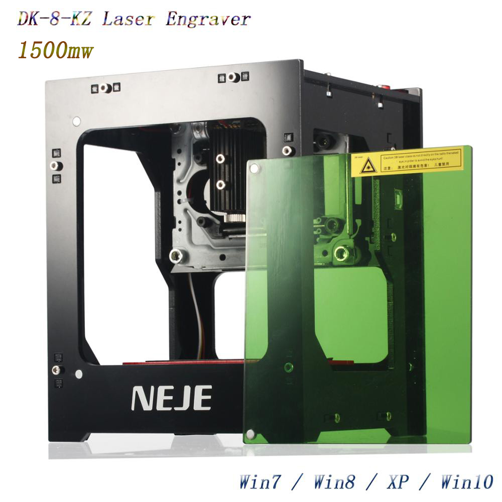 NEJE 2019 gorąca sprzedaży nowy 1500mw 405nm Ai grawer laserowy frezarka do drewna DIY pulpit wycinarka laserowa drukarka grawer...