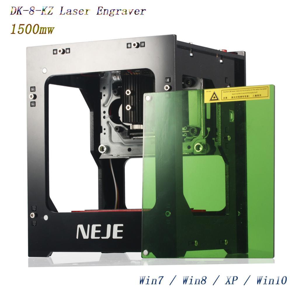 NEJE Machine de découpe de bois, nouveau graveur laser 2019 mw 405nm Ai, bricolage, coupe Laser de bureau, imprimante, graveur, 1500