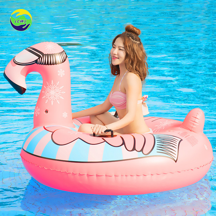 Inflatable Ski Ring Factory Currently Available Supply Flamingo Ski Circle Environmentally Friendly PVC Cold-resistant Thick Mat