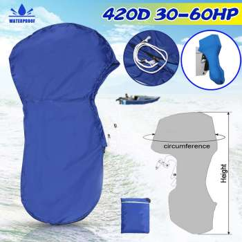 420D 30-60HP Boat Full Outboard Engine Cover Motor Protector For 30-60HP Motor Waterproof