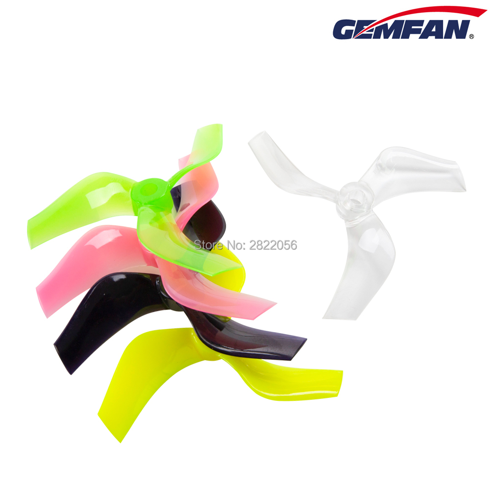 12 pcs/ 6 pairs Gemfan 75mm Ducted Props PC 3-Blade Propeller CW CCW 5mm for 1408-1808 Motor Cinewhoop RC FPV Racing Drone image