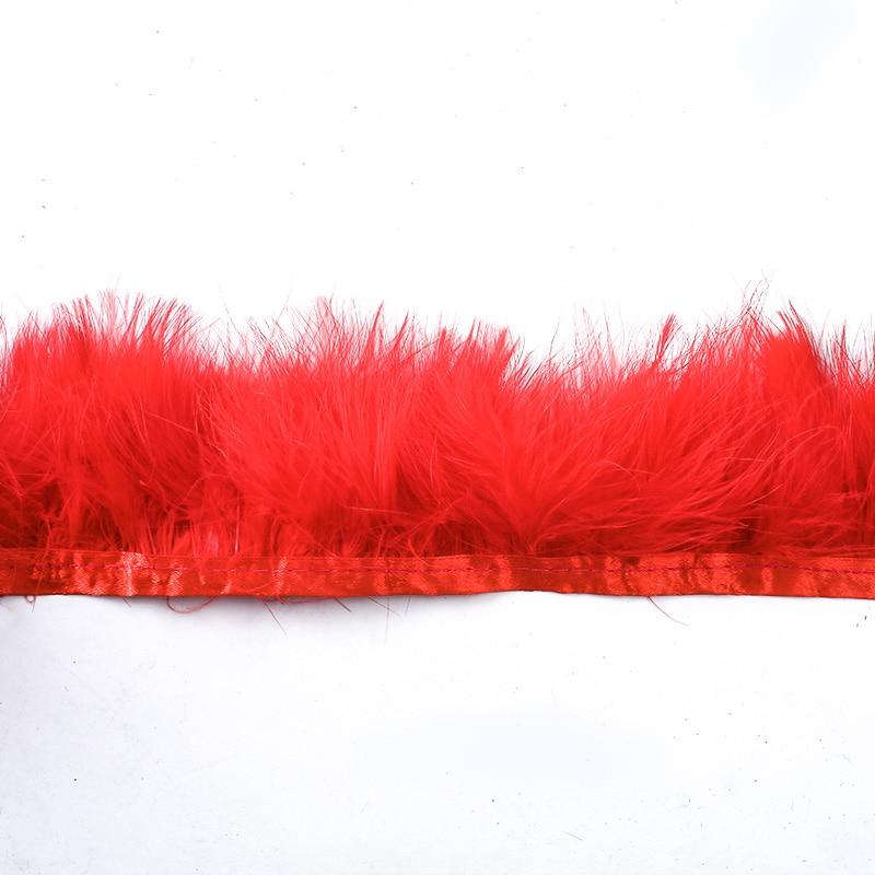 Turkey Feather Cloth Edge 200*9CM Wedding Dress Decoration DIY Jewelry Fluffy Art Clothing Accessories