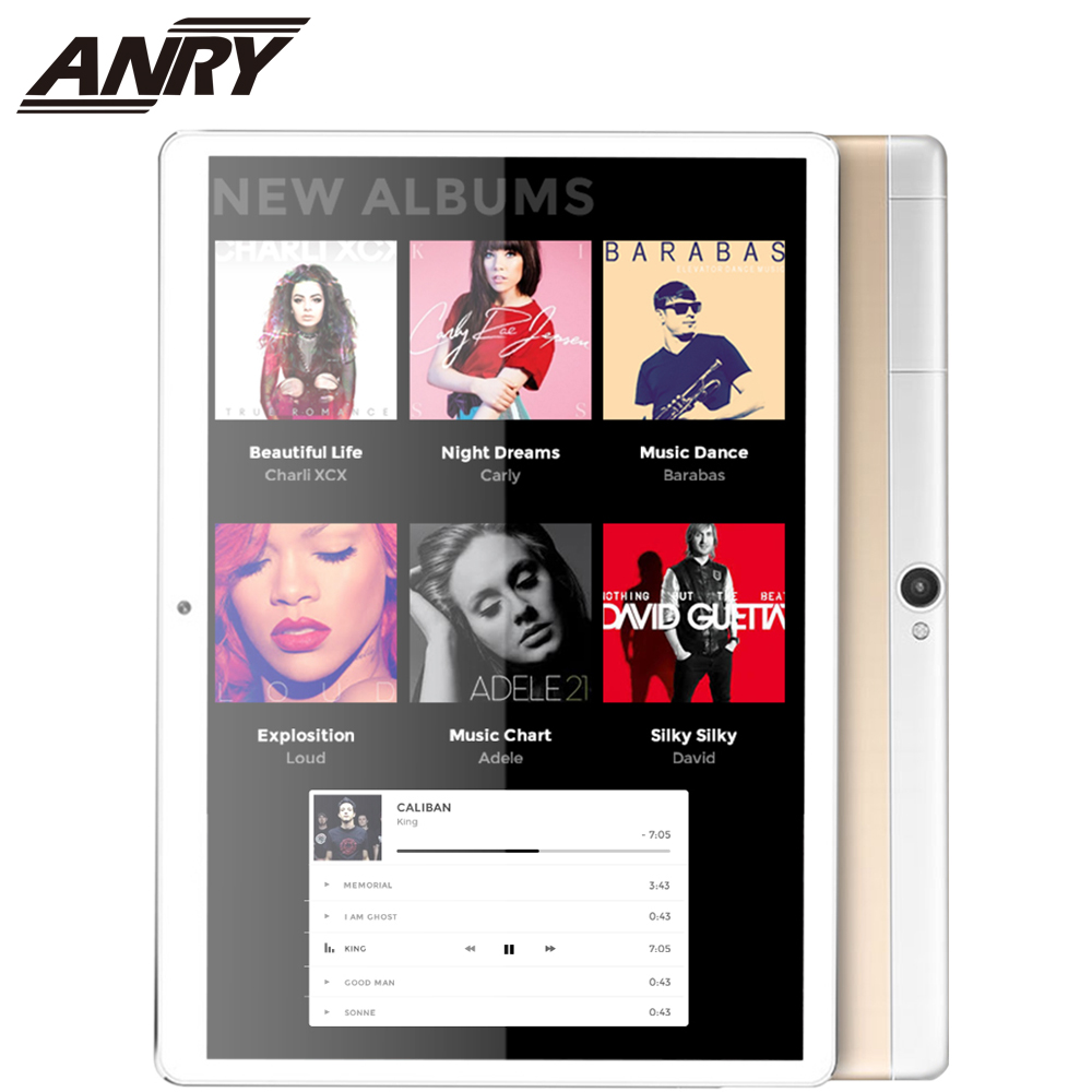 ANRY Video Tablet PC 10 Inch 4G Lte Phone Call Android 7.0 <font><b>MTK6580</b></font> A7 CPU 4 GB RAM 64GB ROM Phablet 3.7V/5000mAh Battery image
