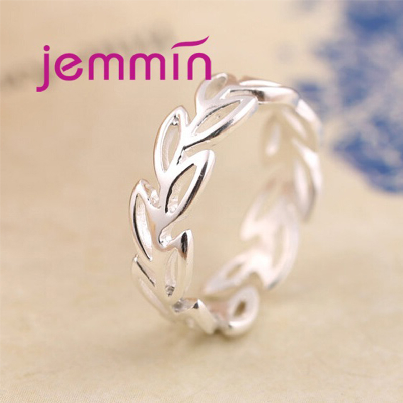 Adjustable Open-ended 925 Sterling Silver Rings For Women Fashionable Jewelry Garland Shape Accessories