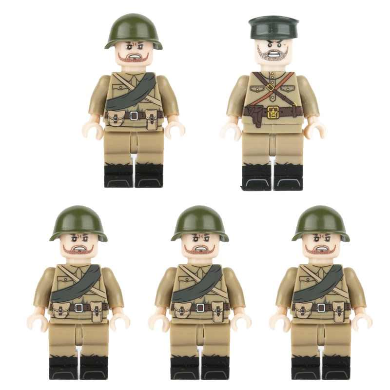 WW2 Army Soldiers Military Building Block US Soviet Soldiers Brick Toy Children,