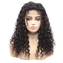 Peruvian Water Wave 13*4 Lace Front Human Hair Wigs Frontal Wig With Baby Pre Plucked Natural Hairline 150% Remy