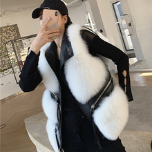 Vest Waistcoat Winter Women's Thin Short for Autumn And Fur Fox-Fur Whole-Hide New-Style