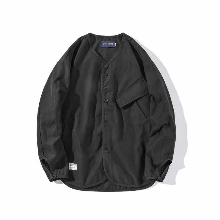 Luoye luo ye 2019 Lente Originele Japanse-stijl Kraag Vest Jas Unisex Vintage Loose-Fit Jas heren s031