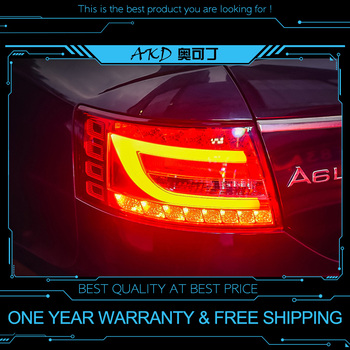 AKD tuning cars Tail lights For Audi A6 A6L 2004-2008 Taillights LED DRL Running lights Fog lights angel eyes Rear parking light