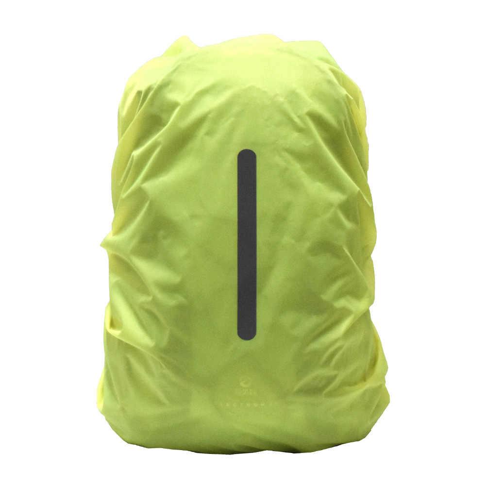 Sac à dos imperméable réfléchissant housse de pluie Sport de plein air nuit cyclisme lumière de sécurité housse de pluie sac Camping randonnée 25-75L