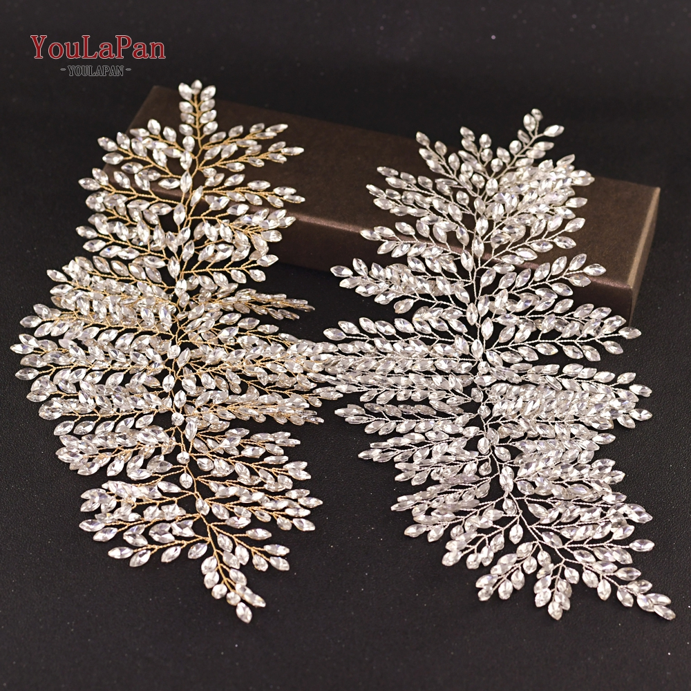 YouLaPan HP238 New Crystal Tiara Headband Luxury Bridal Hairbands Crown Full rhinestone Wedding Hair Accessories Bride Tiara in Bridal Headwear from Weddings Events