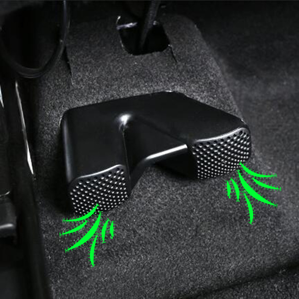 Zlord Under Seat AC Heat Floor Air Conditioner Duct Vent Outlet Grill Cover For Nissan X-trail X Trail Rogue T32 2013 - 2018