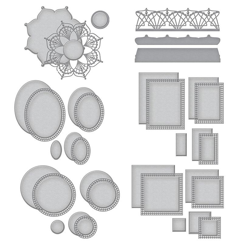 All Types Stitch Circle nesting die set metal cutting die Stencil Embossing DIY