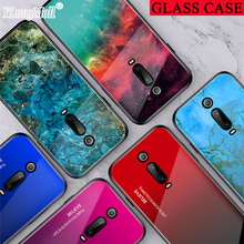 Marble Tempered Glass Case on for Xiaomi Redmi K20 Note 7 Pro Mi 9T 9 SE CC9 CC9e A3 Lite Case Gradient Soft Hard Back Cover for redmi note 7 6 pro case luxury hard tempered glass fashion marble protective back cover case for xiaomi mi 9 full cover