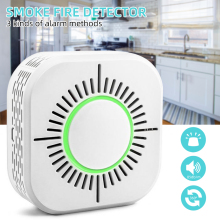 Smoke Fire Detector 360 Degree Wireless Sensor Alarm for Home Office Security 1pcs
