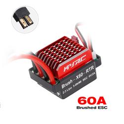 60A Brushed ESC Electric Speed Controller 6V/2A BEC for 1/10 RC Car Traxxas TRX4 Trx6 D90 HSP Redcat 4WD Tamiya Axial SCX10 HPI