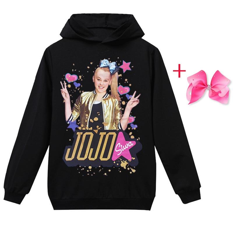 JOJO Siwa Girl Full Sleeve Hoodie Jacket Sweatshirt Spring Autumn Tops Clothes T-shirt Girl Clothing JOJO Siwa Hair Accessories
