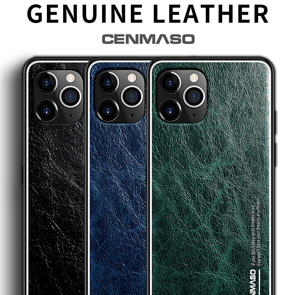 CENMASO Genuine Leather Retro Vintage <font><b>Case</b></font> for <font><b>iPhone</b></font> 11 Pro 7 <font><b>8</b></font> X XR XS Max <font><b>Original</b></font> 360 Soft TPU Full Protective Phone Cover image