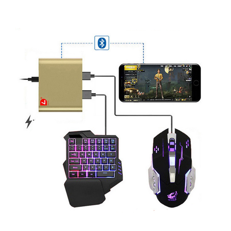 EastVita PUBG Mobile Phone Game Controller Mouse Keyboard Battledock Converter Adapter for Android Phone Games Controller r25