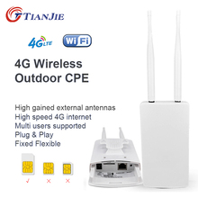 TIANJIE CPE905 Smart 4G Router WIFI Router Home hotspot 4G RJ45 WAN LAN WIFI modem Router CPE 4G WIFI router with sim card slot cheap Wireless 100Mbps 1 x10 100Mbps 1 x USB 2 4G None 300Mbps CP905-13 Wi-Fi 802 11g Wi-Fi 802 11b Wi-Fi 802 11n 300 Mbps Firewall