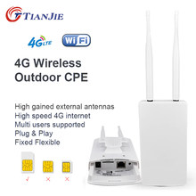 TIANJIE CPE905 Smart 4G Router WIFI Router Hause hotspot 4G RJ45 WAN LAN WIFI modem Router CPE 4G WIFI router mit sim karte slot(China)
