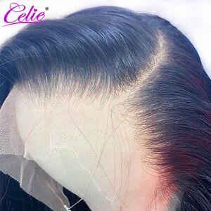 Image 2 - Celie HD dantel ön peruk düz dantel ön peruk 150 180 250 yoğunluk dantel ön İnsan saç peruk HD şeffaf dantel peruk