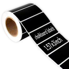 цена на Blackboard Sticker 200PCS / Roll 1.57X3 Inch Chalk Paper Blackboard Sticker, Glass Bottle, Kitchenware Organizer