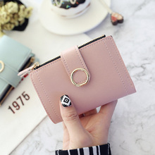 Women Wallets Small Fashion Brand Leather Purse Women Ladies Card Bag For Women 2020 Clutch Women Female Purse Money Clip Wallet cheap HEONYIRRY CN(Origin) Short Synthetic Leather 9cminch Patchwork B353 Coin Pocket Photo Holder Card Holder 3 5 cm 12 5cminch