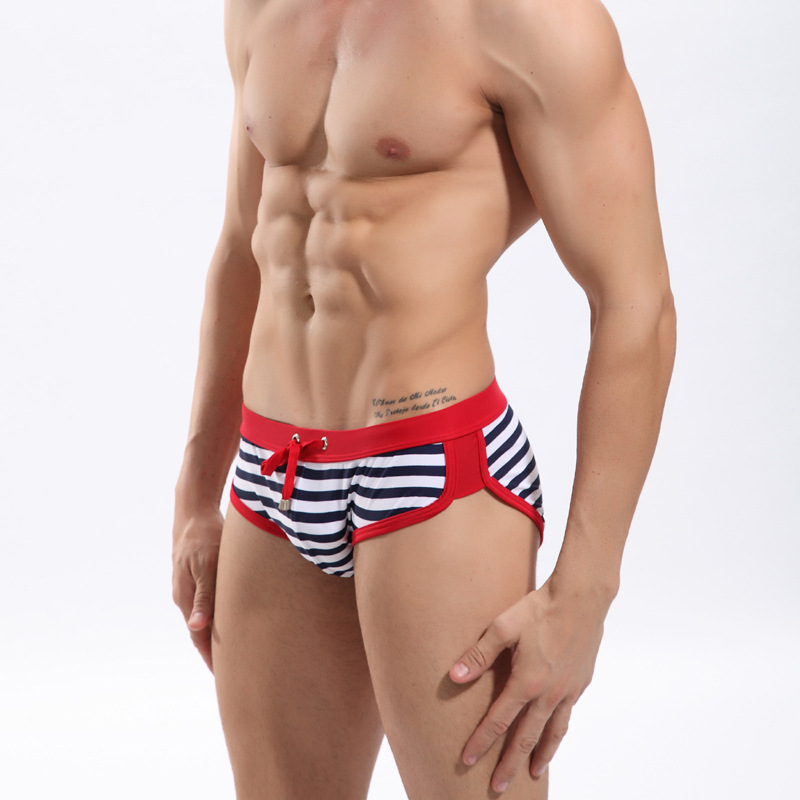Triangular Swimming Trunks Seobean SEOBEAN Fujian Quanzhou Brand Stripes Swimming Trunks