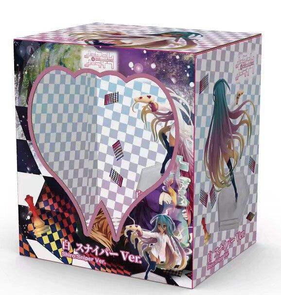 H81f2d53d5b9d4a31938eafcf749de8e9G Action Figure No Game No Life anime figura shiro jibril menina sexy pistola de água ver. Figura de ação pvc shiro jibril collectible modelo boneca presente