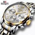 Часы HAIQIN мужские  армейские  Роскошные  брендовые  кварцевые  из нержавеющей стали