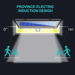 Image 2 - 1/2/4pc 180 LED כוח שמש חיישן תנועת אור COB 3 מצבים חיצוני גן חצר עמיד למים אנרגיה חיסכון מסלול שמש מנורת קיר