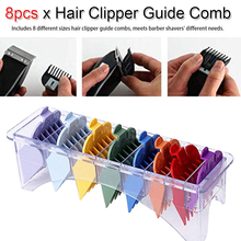 Attachment Electric Hair Clipper Trimmer Shaver Accessories 8pcs/set Multi Size Colorful Haircutting Clipper Guide Comb