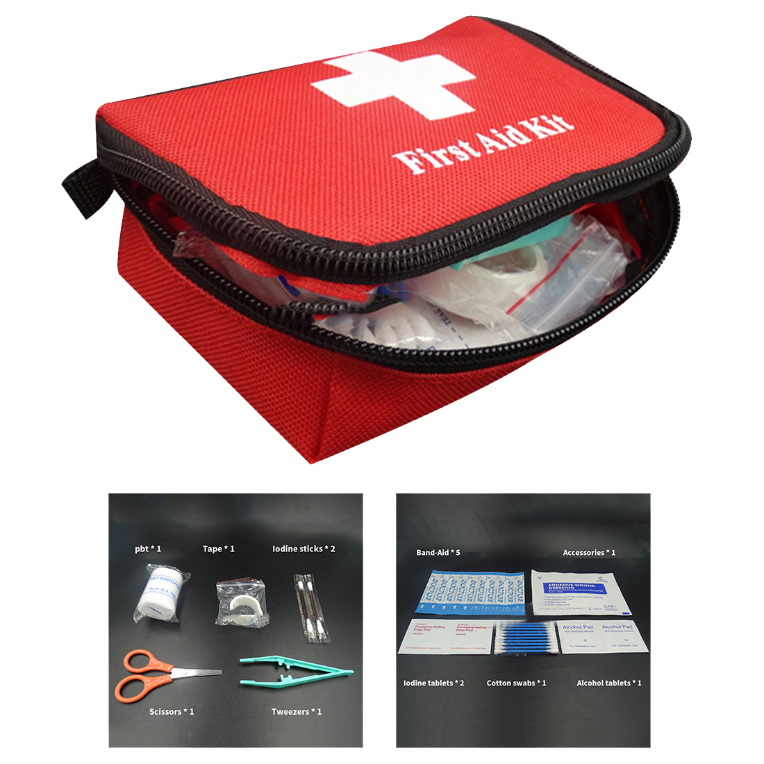 13/11/8 Items Portable Emergency Survival Kit Mini Family First Aid Treatment Pack Pouch Outdoor Car Sport Travel Medical Bag