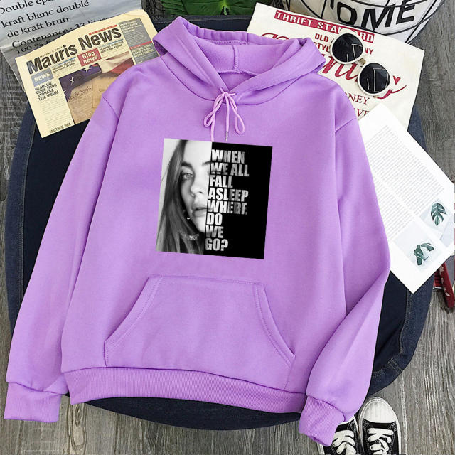 BILLIE EILISH THEMED HOODIE (11 VARIAN)