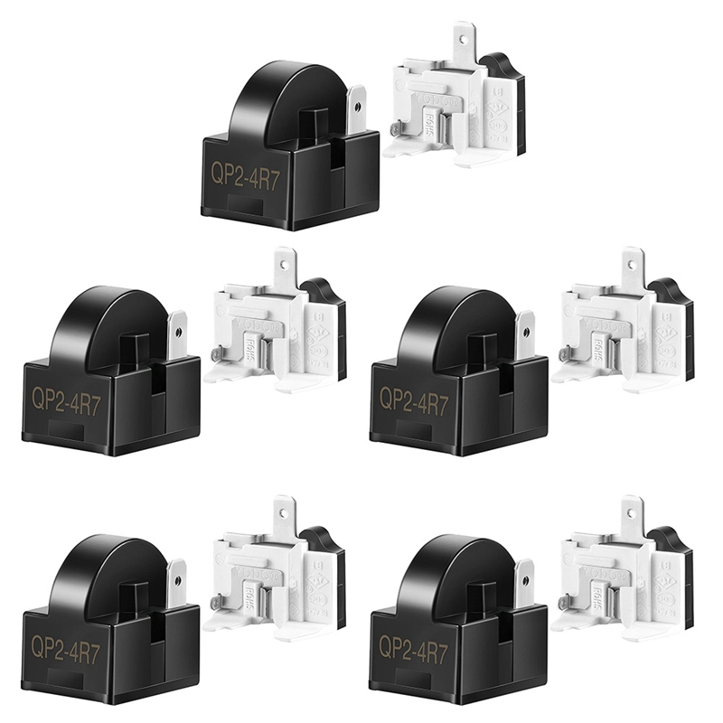 Refrigerator Starters QP2-4R7 4.7 Ohm 1 Pin Refrigerator PTC Starter Relays and 6750C-0005P Refrigerator Protectors