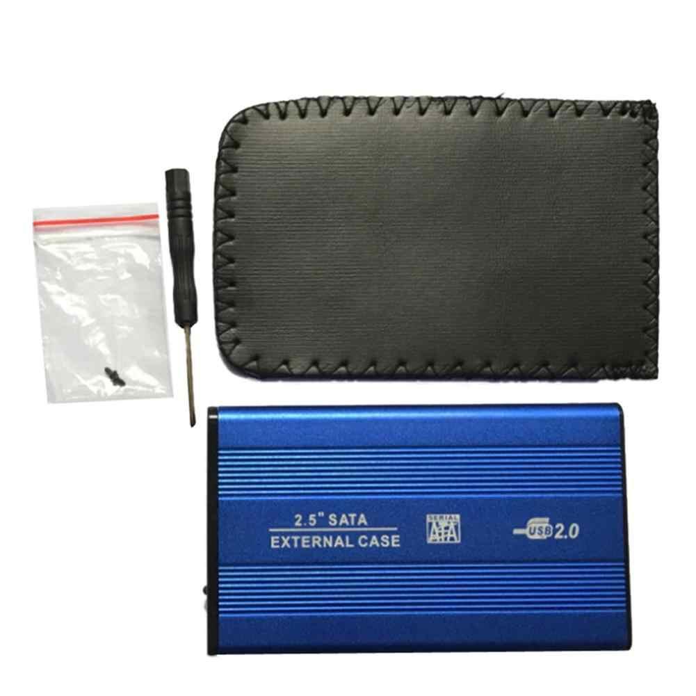 2.5 Cm USB 2.0 SATA Eksternal Hard Disk Kotak Paduan Aluminium Shell