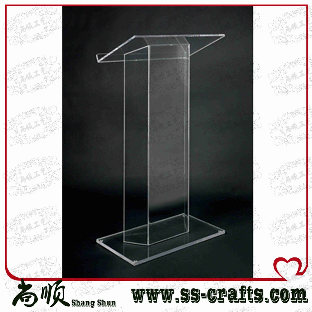 Elegant Detachable Floor Standing High Grade Cheap Acrylic Lectern Plexiglass