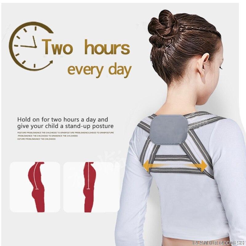 Профессиональный детский регулируемый пояс для поддержки спины и груди, Корректор осанки, плечевой бандаж, лента для коррекции осанки